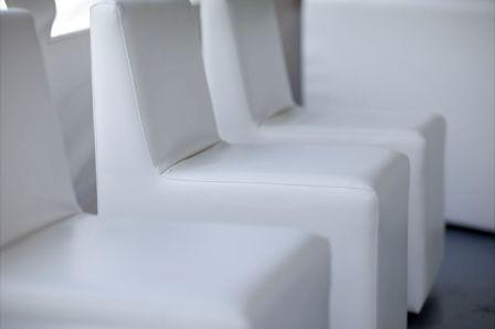 Chaise fauteuil blanc 18 » X 22 » X 33 »