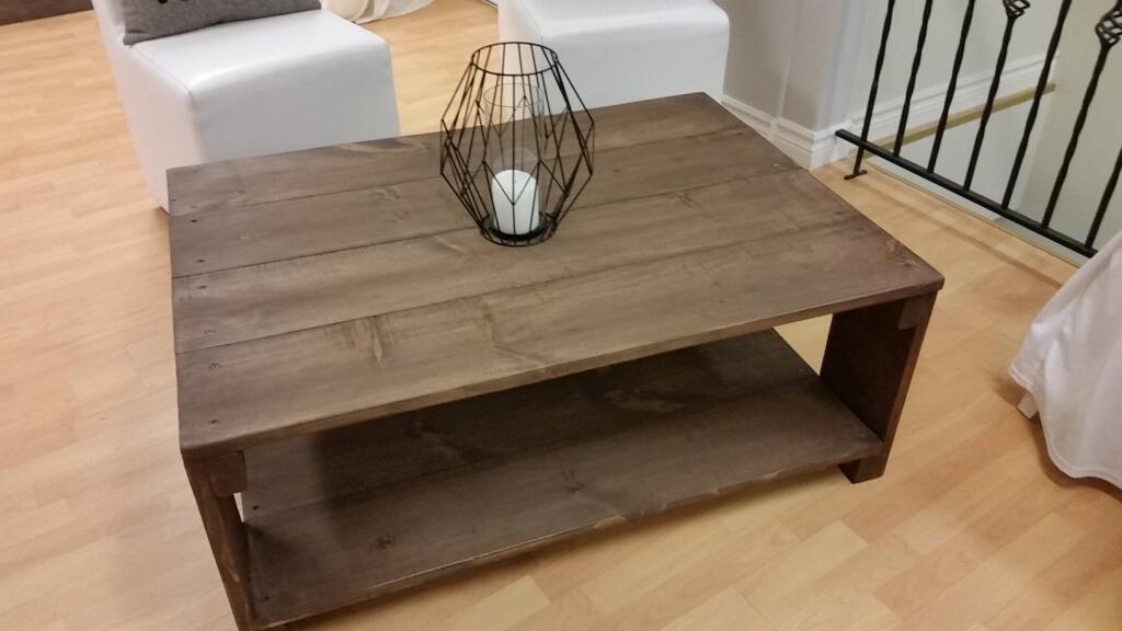 Table à café rustique 30 » X 42 » X 17 »