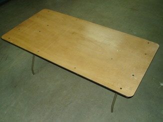Table rectangulaire 36′ X 6′