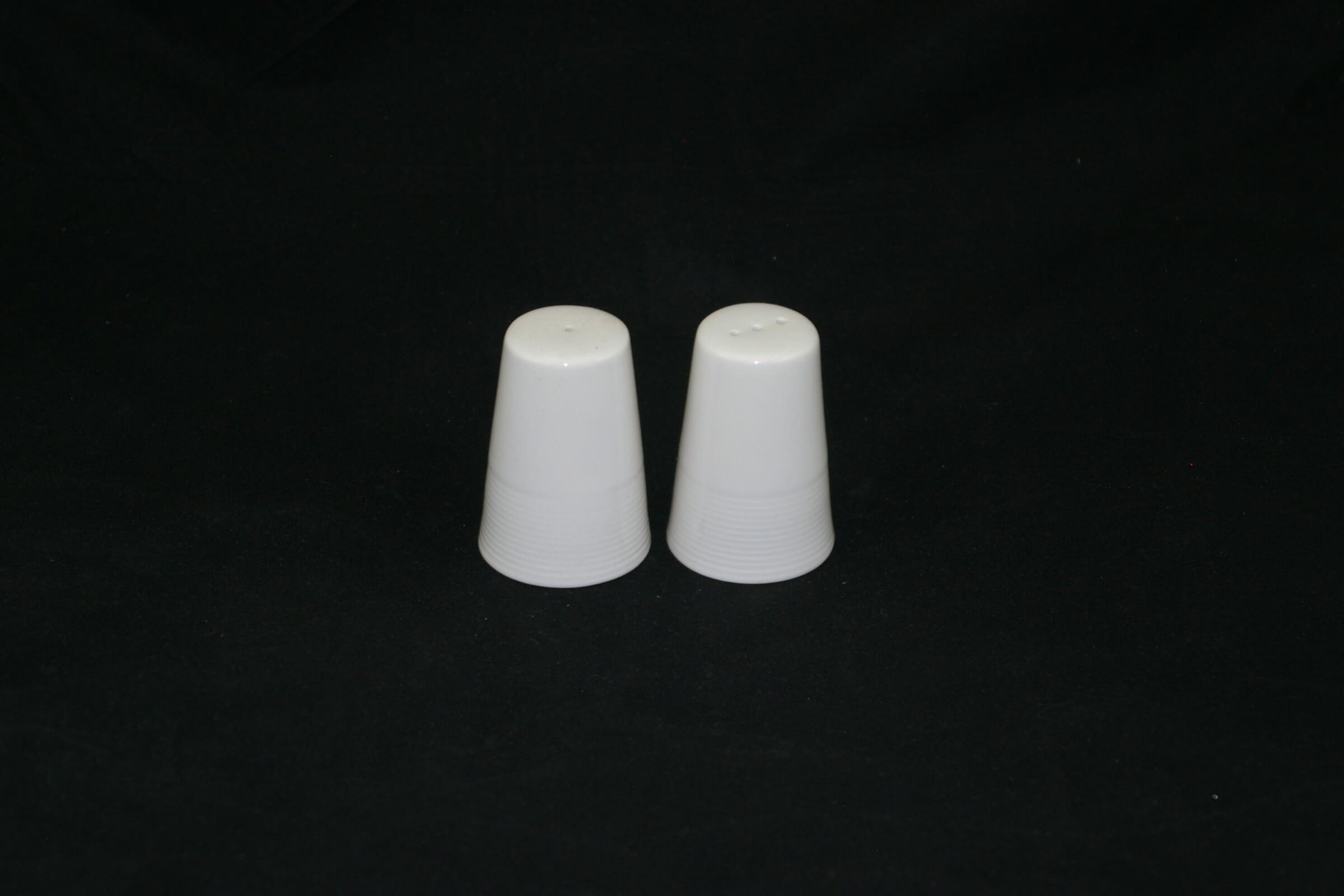 Poivrière & salière en porcelaine classique